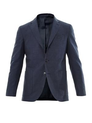 3 Button patch-pocket blazer