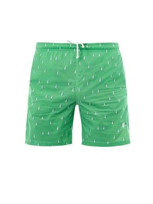 Yachts-print swim shorts