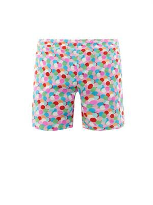 Multi spot-print swim shorts