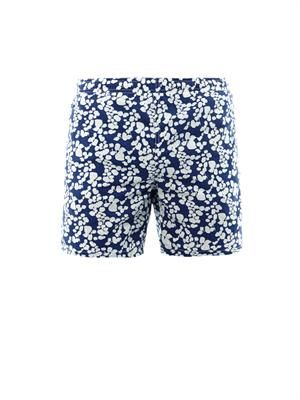 Summer leaves-print swim shorts