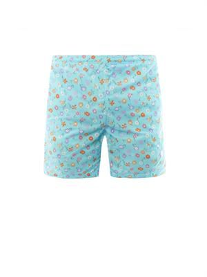 Flower-print swim shorts