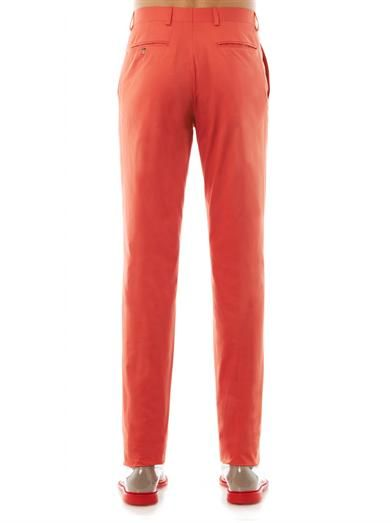 Richard James Flat-front cotton chinos