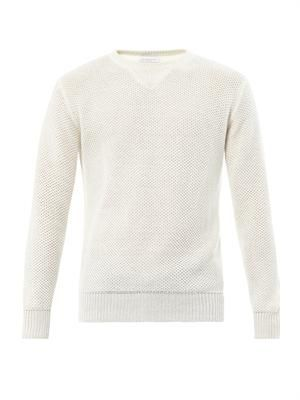Linen-knit sweater