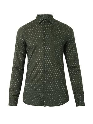 Nano paisley-print cotton shirt