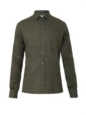 Brushed-cotton shirt