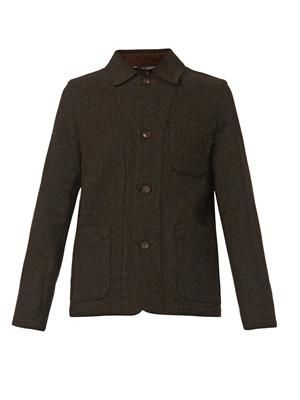 Harris-tweed shirt jacket