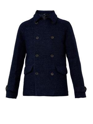Bouclé-wool pea coat