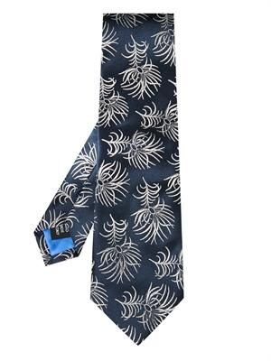 Feather-jacquard silk tie