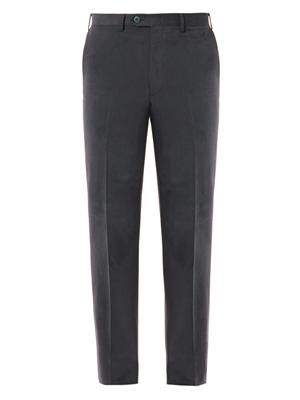 Tigullio-fit cotton chinos