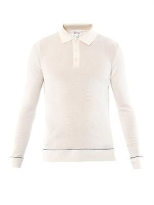Wool and silk blend polo top