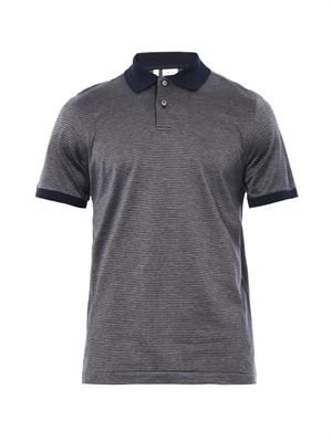 Micro-check polo shirt