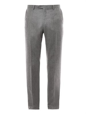 Montana-fit fleece-wool trousers