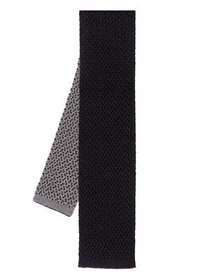 Silk and cashmere-blend knitted tie