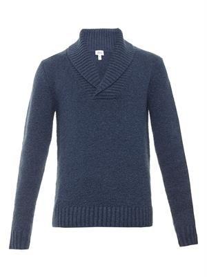 Shawl-neck cashmere-blend  sweater