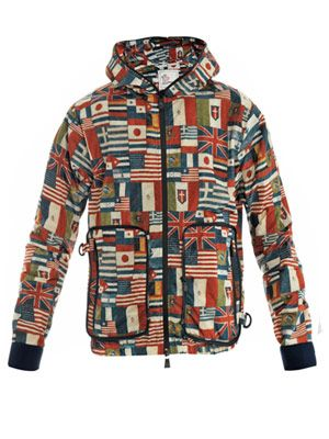 Bolbec flag-print pack-away jacket