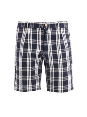 Oxford window-check shorts