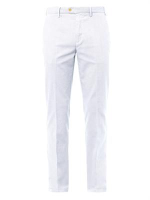 Mirco-dot slim straight-leg chinos