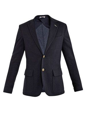 Unconstructed single-breasted blazer