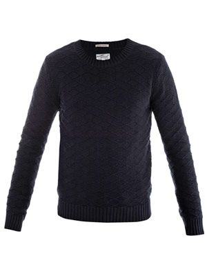 Landing honeycomb-weave sweater