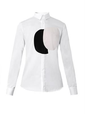 Circle-flocked cotton shirt