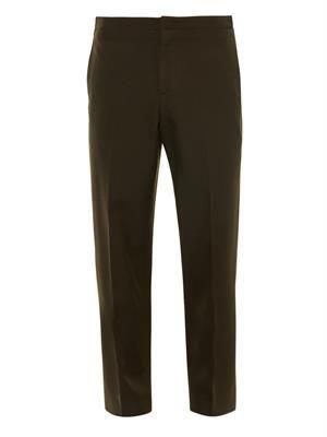 Zip-waist tailored trousers