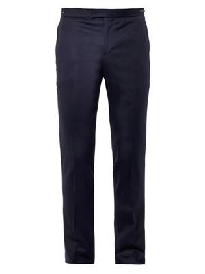 Zip-waist tailored trousers