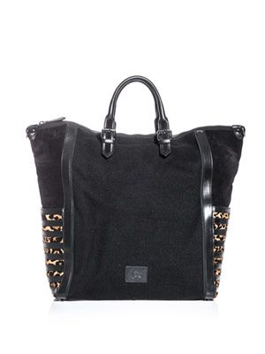 Maurice jute and leopard bag