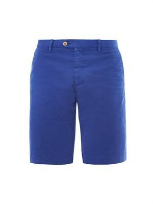 Tailored cotton-blend short