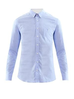 Oxford slub-cotton shirt