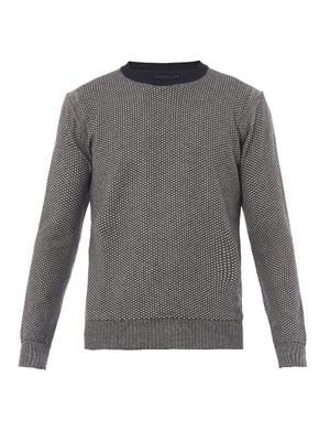 Textured cotton and linen-blend sweater