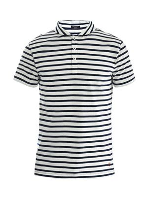 Stripe polo top