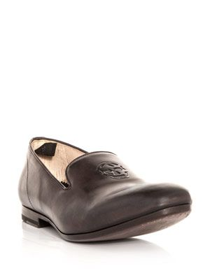 Leather slipper loafers