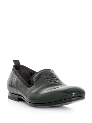 Patent leather slipper loafers