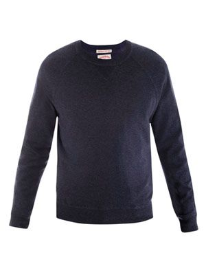 Raglan knitted sweat top