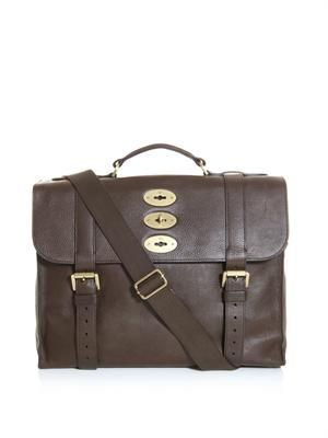 Ted leather briefcase