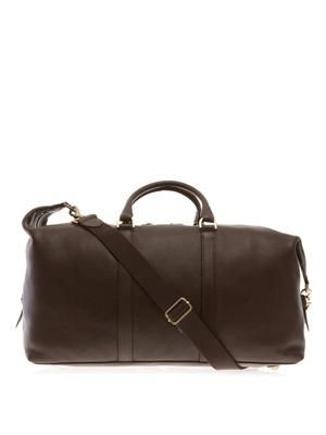 Clipper leather weekend bag