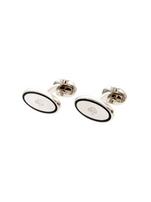 Oval thin-line cufflinks