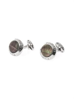 Mother-of-pearl coin cufflinks