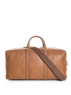 Leather clipper bag