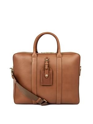 Matthew 24 Hour leather weekend bag