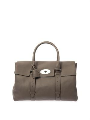 Oversized Bayswater leather weekend bag