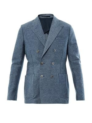 Crisp double-breasted blazer