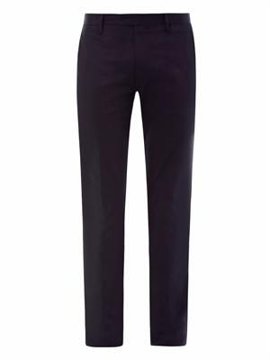 Max satin cotton slim-leg trousers