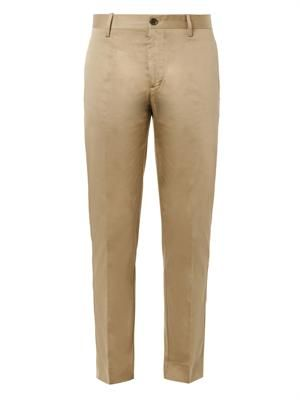 Sam cotton-satin cropped chinos