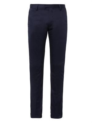 Max cotton-satin slim-leg chinos