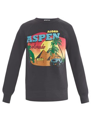 College Aspen-print sweat top