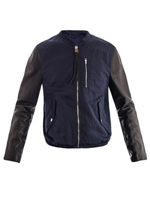 Brando leather sleeve jacket