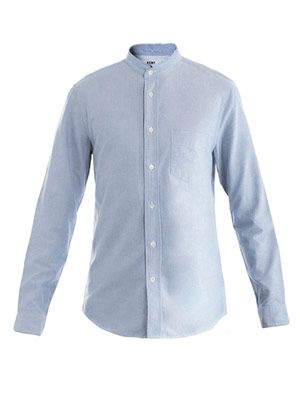 Bruce raw-collar shirt
