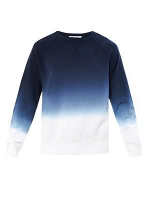College ombré sweatshirt
