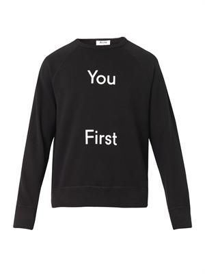 College You First-print sweatshirt